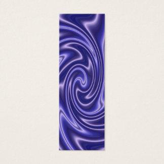 blue satin bookmark mini business card