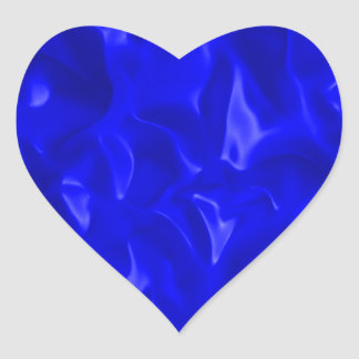 Blue Satin Heart Sticker
