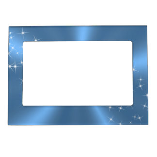 BLUE SATIN MAGNETIC FRAME