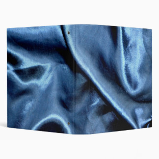 Blue Satin Print Binder