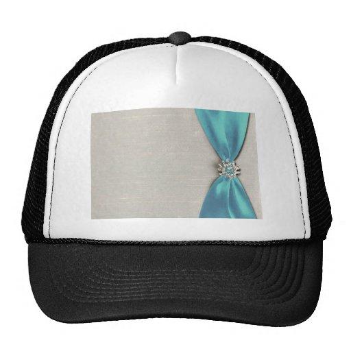 blue satin ribbon with jewel copy trucker hats