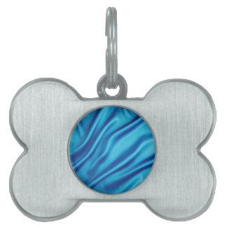 Blue Satin Ripples Pet ID Tag