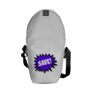 Blue Save Messenger Bag