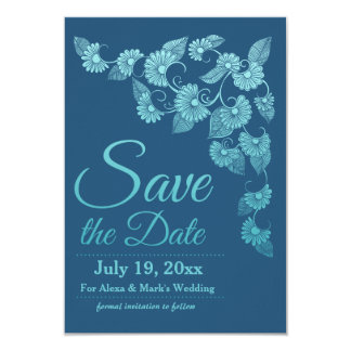 Blue Save the Date Announcement
