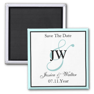 Blue Save The Date Magnet
