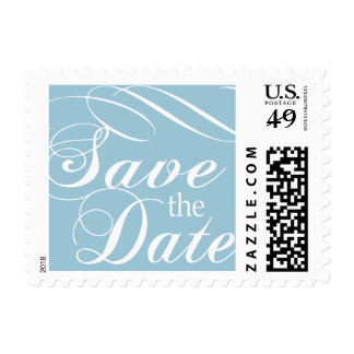 Blue Save the Date Stamp