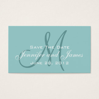Blue Save the Date Wedding Website Insert