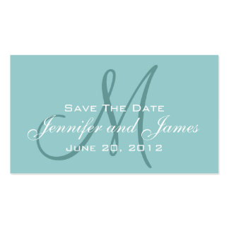 Blue Save the Date Wedding Website Insert Double-Sided Standard Business Cards (Pack Of 100)
