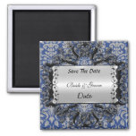 Blue Save the Date Weddings Magnet Magnet