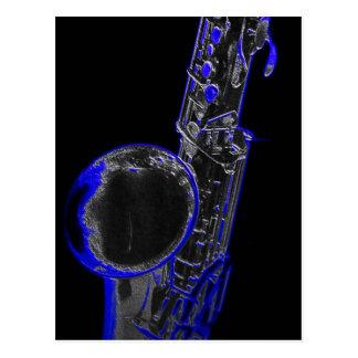 Blue Sax Postcard