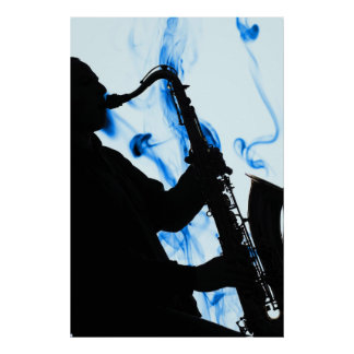 Blue Sax Poster