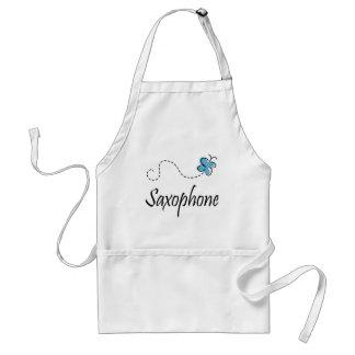 Blue Saxophone Music Gift Adult Apron