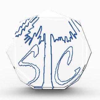 Blue SC 1663 BC Acrylic Award