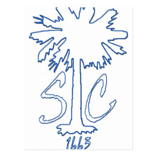 Blue SC 1663 BC Postcard