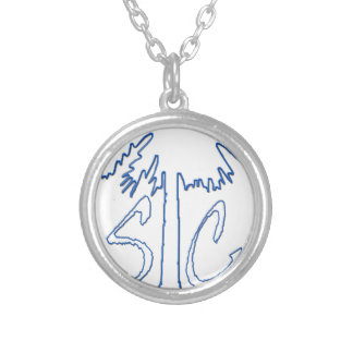 Blue SC 1663 BC Round Pendant Necklace