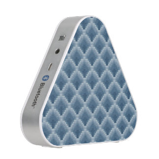 Blue Scaled Pattern Bluetooth Speaker
