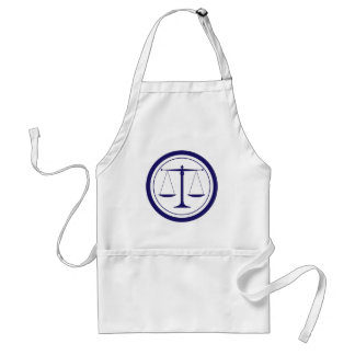 Blue Scales of Justice Silhouette Adult Apron