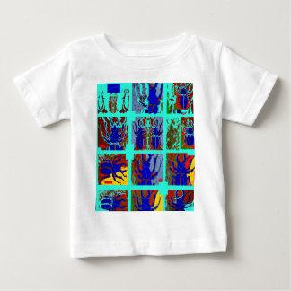 Blue Scarab Beetles Abstract Art by Sharles Baby T-Shirt