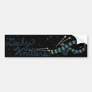 Blue Scarf Geeky Knitters Bumper Sticker Car Bumper Sticker
