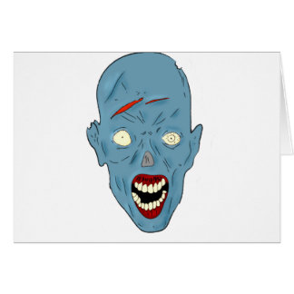 Blue scarred zombie card