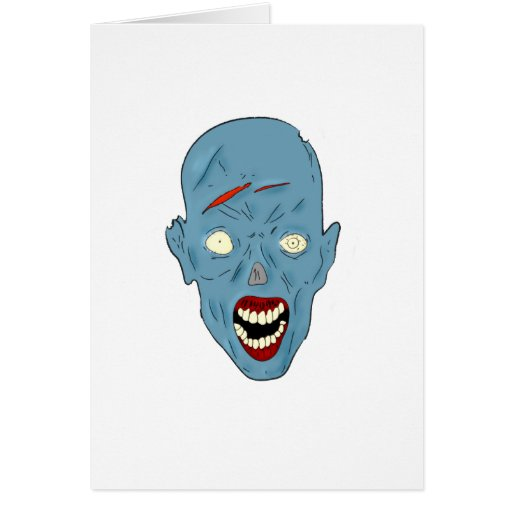 Blue scarred zombie cards