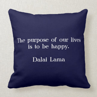 Blue scatter cushion with quote Dalai Lama -
