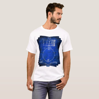 Blue Schema Drummer Shirt Snare Drum Diagram