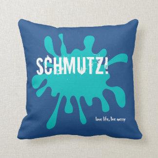 Blue Schmutz! Pillow