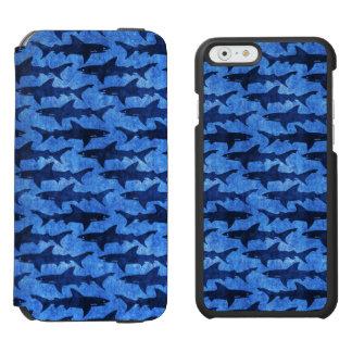 Blue School of Sharks iPhone 6/6s Wallet Case