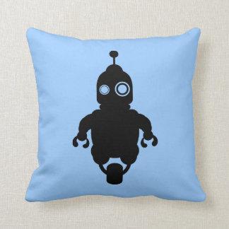 Blue Sci-Fi Robot Cushion Pillows