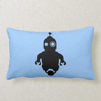 Blue Sci-Fi Robot Pillow
