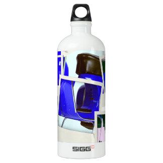 Blue Scooter Aluminum Water Bottle