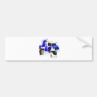 Blue Scooter Bumper Sticker