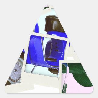 Blue Scooter Triangle Sticker