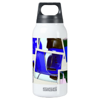 Blue Scooter Thermos Water Bottle