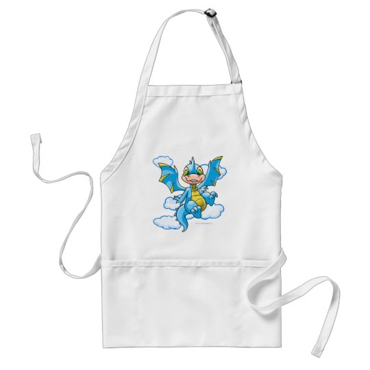 Blue Scorchio with his head in the clouds Adult Apron