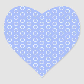 blue scores blue dots polka dabs samples small heart sticker