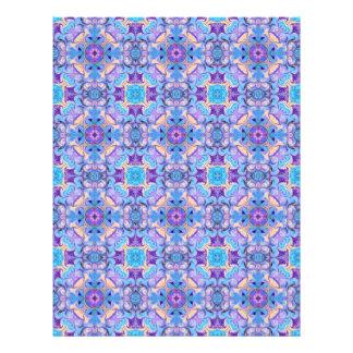 Blue Scrapbook Paper Kaleidoscope Design Letterhead