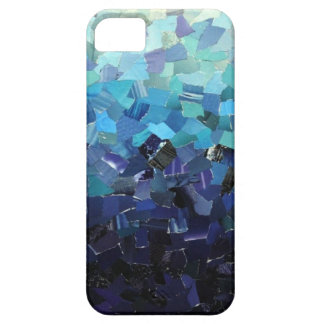 Blue Scraps iPhone SE/5/5s Case
