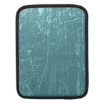 Blue Scratched Aged and Worn Texture iPad Sleeves