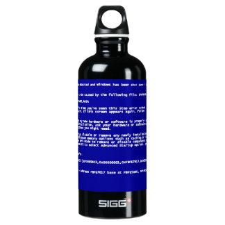 Blue Screen of Death Aluminum Water Bottle