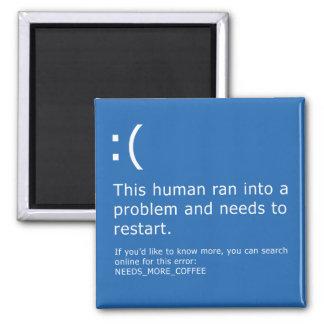 Blue Screen of Death - Coffee Error Magnet