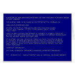 Blue Screen of Death Greeting Cards