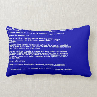 Blue Screen of Death Lumbar Pillow