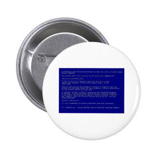Blue Screen of Death Pinback Button