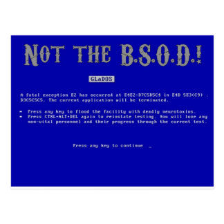Blue Screen of Death Postcard