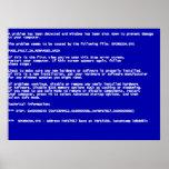 Blue Screen of Death Print