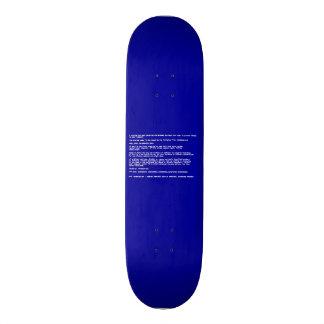 Blue Screen of Death Skateboard Deck