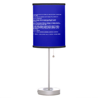Blue Screen of Death Table Lamp