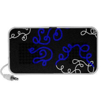 Blue Scribble Doodle Speaker
